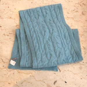 Light blue cashmere scarf
